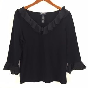 Jones New York Signature Womans Black Blouse